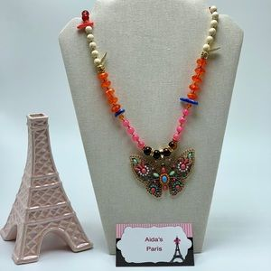 Jewelry - Butterfly beaded necklace 🦋